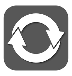 The recycling icon eco and ecological cycle vector