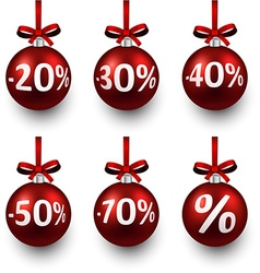 Sale christmas balls vector