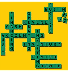 Crossword business concept vector