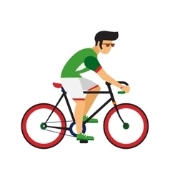 Man ride by road bicycle cycling sport vector