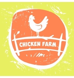 Logo chicken farm vector