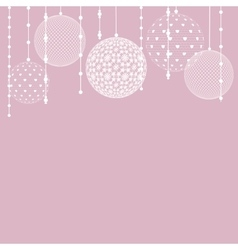white lace baubles vector image
