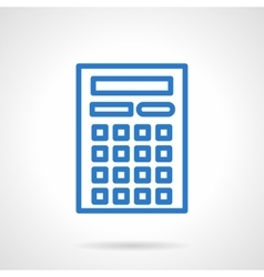 Calculator icon blue simple line style vector