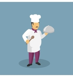 Profession cooks character design flat vector