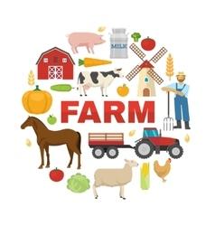 Farm Round Design vector image