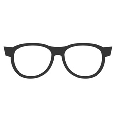 Black eyeglass front view graphic vector
