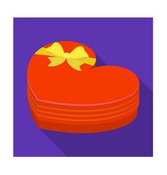 a box in the form of a red heart a gift to a vector image