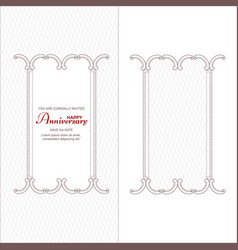 a set of two vintage vertical frames for an vector image vector image