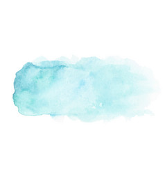 abstract blue watercolor stain vector image