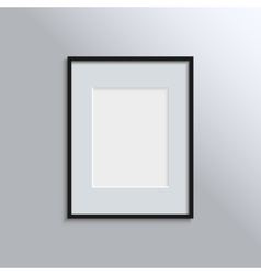 Black frame on a wall background design for your vector image