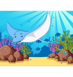 cartoon stingray for you design vector image vector image