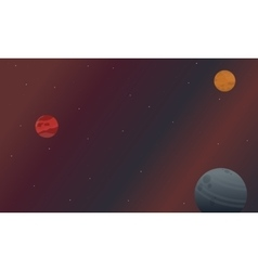 Collection of space nature landscape vector