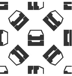 document inbox icon seamless pattern on white vector image vector image