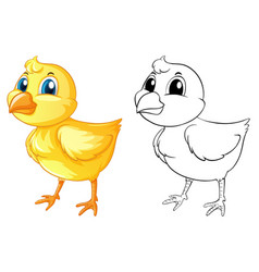 Doodle animal for little chick vector