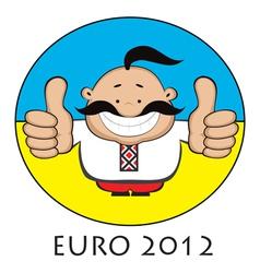 euro 2012 emblem vector image vector image