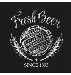Fresh beer chalk badge vector