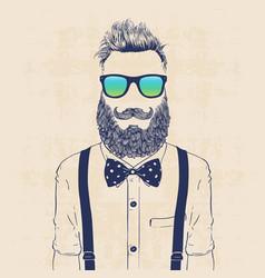 gentleman hipster vector image vector image