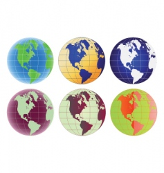 globe north America and Latin America vector image