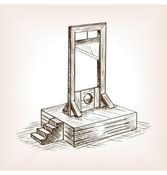 Guillotine sketch style vector
