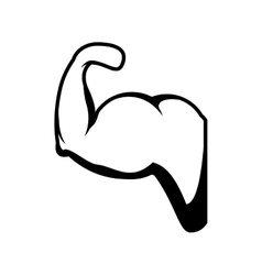hand muscle silhouette icon vector image