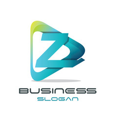 letter z media logo vector image