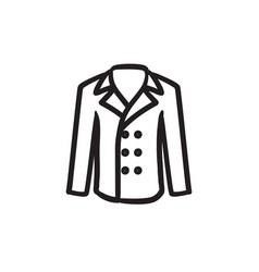 Male coat sketch icon vector