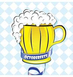 Oktoberfest background Bavarian pattern beer vector image
