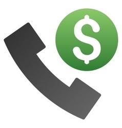 Phone order gradient icon vector