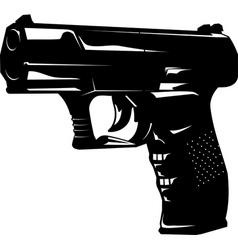 pistol vector image