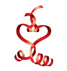 satin heart vector image vector image