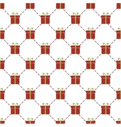 Seamless pattern with red gift boxes vector image