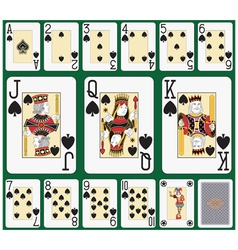 Spade blackjack suit large figures vector