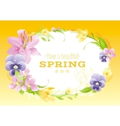 Spring yellow background Easter Mothers day vector image