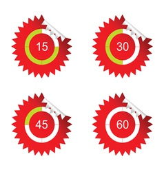 sticker clock red vector image vector image