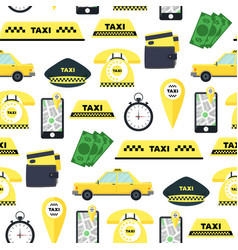 taxi transportation service background pattern vector image