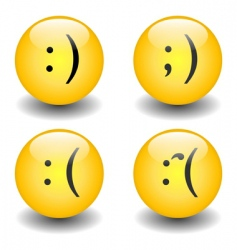 txt smileys happy and sad vector image vector image