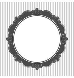 Vintage retro round openwork frame decorative vector
