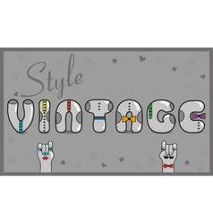 Vintage style artistic gray font vector