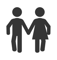 Couple relationship pictogram icon vector