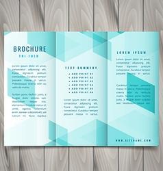 Polygonal trifold brochure design vector