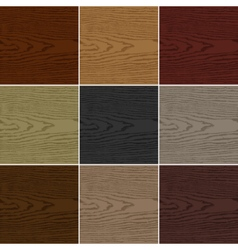 Nine color wood texture background vector