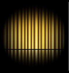 Curtain of golden background vector