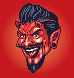Smilling devil head vector