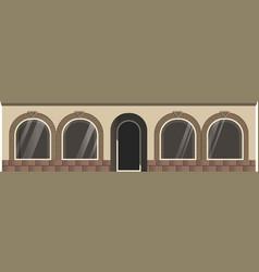 Entrance and windows vector