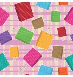 polka dot bags pattern vector image