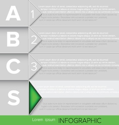 Infographic green button vector