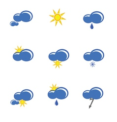 Weather forecast sign vector