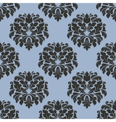 Gothic floral seamless pattern with gray flowers vector image