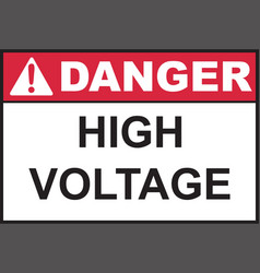 Danger high voltage sign vector