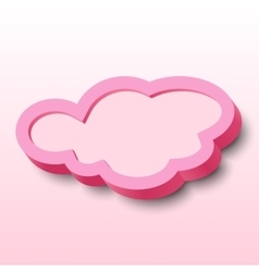 3d cloud frame vector image